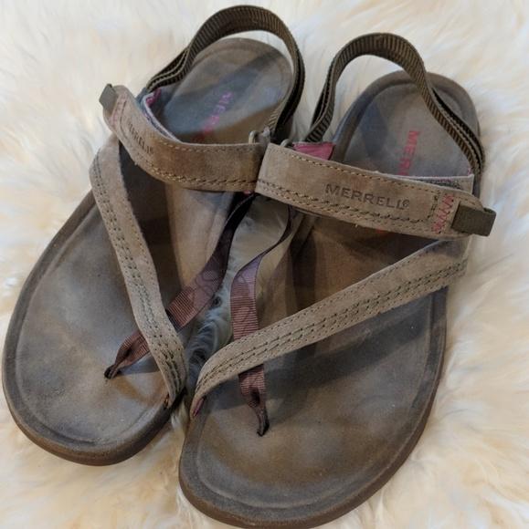 4361ad10709d Merrell Mimosa Clove Kangaroo sandals. M 5adc7d833afbbda1058cfdf6
